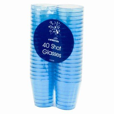 160 Coloured Shot Glasses -4 packs of 40
