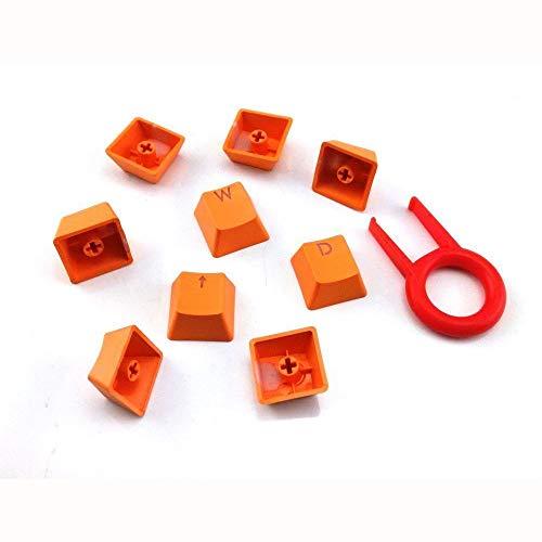Veepola Orange 9 Tasten PBT Hintergrundbeleuchtung, durchscheinende Tastenkappen für Cherry MX mechanische Tastatur - Cherry Home Bar Set