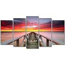 DekoArte - Cuadro moderno en lienzo paisaje 150x80cm