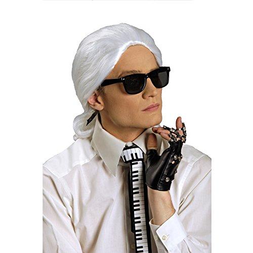 NEU Perücke Karl, weiß mit (Kostüm Perücke Mal)