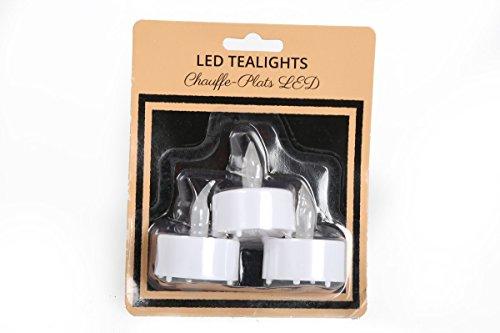 Sin llama unidades 3 LED velas de té velas de plástico funciona con pilas