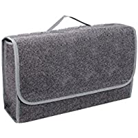 Bolsa para maletero fabricada en fieltro con velcro (48 x 16 x 32 cm), color gris - INTERINNOV©