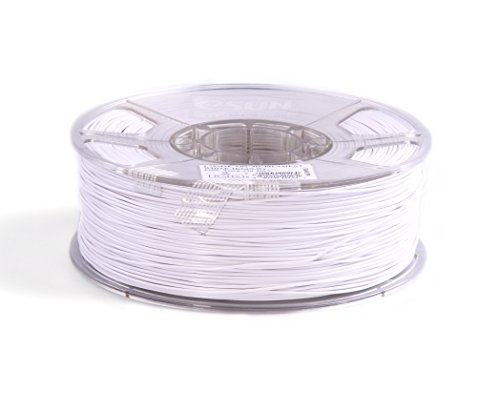eSun 3D Filament - ABS, 1kg / 1,75mm - Weiß (white), Druck Tempe. 220-260℃, für 3D Drucker z.B. MakerBot RepRap MakerGear Ultimaker Mendel Huxlep UP Thing-o-matic, Universal