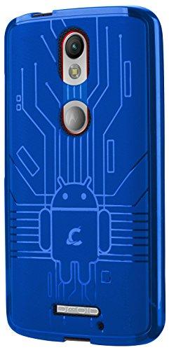 Moto X Force Case, Cruzerlite Bugdroid Circuit Case Compatible for Motorola Moto X Force - Blue
