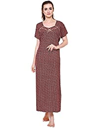 Secret Wish Women s Printed Woolen Nighty Woolen Nighty Nightwear Multicolor  Nighty NT-E124 8e2569ae6