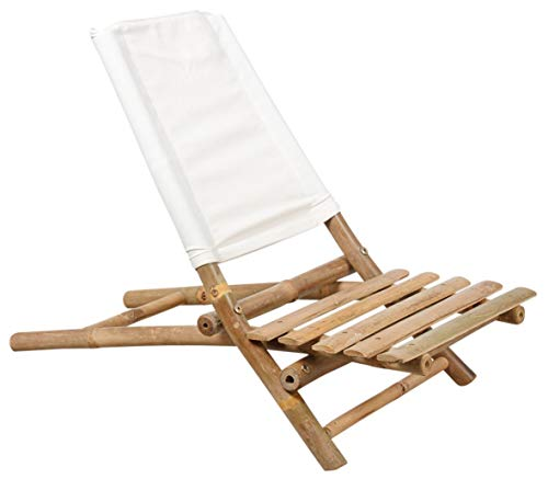 Inconnu Chaise Pliable de Plage en Bambou