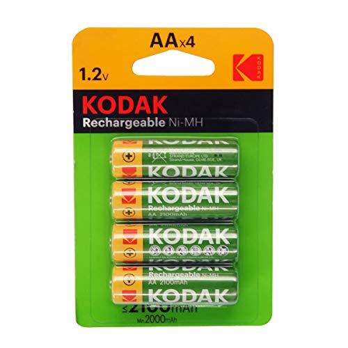 ables Chargées NI-MH AA 1,2V Batterie 2100mAh - Vendu par Lot de 4 ()