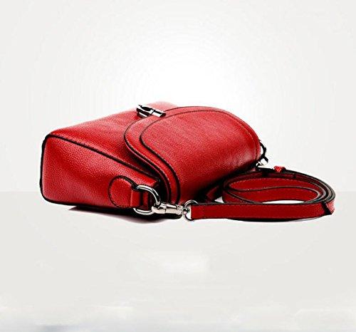 Mutterbeutel Einfache Wilde Schulterbeutel Kurierbeutelhandtaschenfreizeitart Und Weise Elegantes Wildes Red
