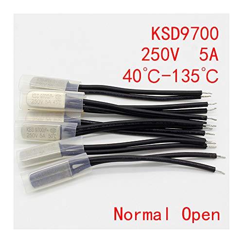 2 UNIDS KSD9700 250V 5A Interruptor de Temperatura de Disco Bimetálico N/O...