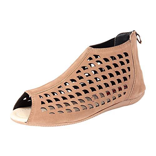 Ziaula Womens London Cutouts Flat Sandal