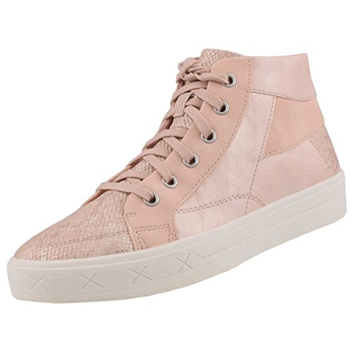 TAMARIS Damen High-Top Sneaker Rosa Rosa (Rose Str. Comb. 505)