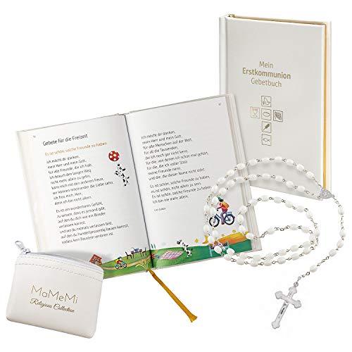 zur Erstkommunion für Mädchen mit Rosenkranz und Gebetbuch ()