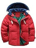ARAUS Kinder Mantel Junge Daunenjacken Trenchcoat Mädchen Winterjacke mit Kapuze 4-13 Alter
