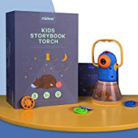 DecoBay Toys Educational Childrens Story Projector Torch Flashlight Nursery Stories for Bedtime Nightlight Projector (Night Light + 8 Stories)