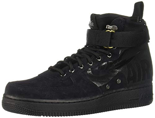 Nike Herren SF Air Force 1 Mid 917753-008 Hohe Sneaker, Schwarz (Black), 45 EU -
