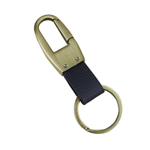 lifeyz Clip auf Gürtelschlaufen Hose Schnalle Leder Schlüsselanhänger Auto Schlüsselanhänger Ring Schlüssel, schwarz (Designer-schnalle)
