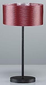 Kahlert 10.238 luz - Muñeca Mini Accesorios - Planta Base de la lámpara de Metal, Pantalla de Tela