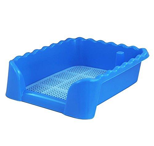 DAN Aseo/Orinal de Entrenamiento, portátil de plástico de WC para Perrito de Perro de Interior con WC Cercado para Perros pequeños, Blue [Large]