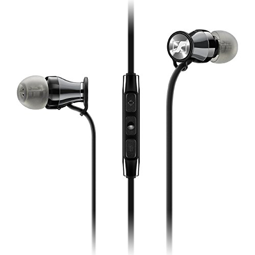 Sennheiser M2IEi Momentum In Ear Cuffia per Apple iPhone, Nero Chrome