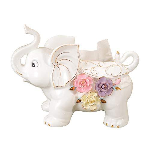 Joeesun Home Elefant Dekoration Tissue Box Wohnzimmer Couchtisch Dekoration modernen minimalistischen kreative Tablett europäischen Keramik Ornamente