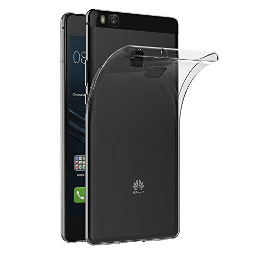 Electrónica Rey Funda Carcasa Gel Transparente para Huawei P9 Lite Ultra Fina 0,33mm, Silicona TPU de Alta Resistencia y Flexibilidad