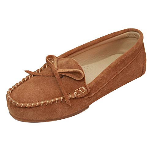 Eastern Counties Leather - Mocasines de Ante para Mujer 37/Castaño