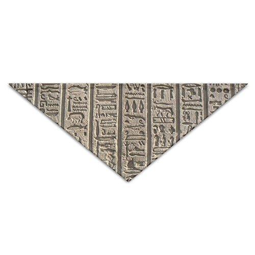 (OUYouDeFangA Halstuch, ägyptischer Stein-Schriftzug, für Hunde, Geburtstag, waschbar, für Welpen, Katzen, Dreieck, Lätzchen Zubehör für kleine Haustiere – tolle Geschenkidee)