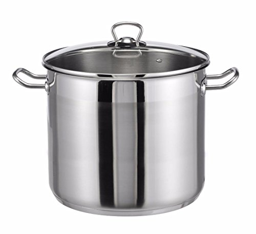 XL Big cooking pot stockpot stainless steel 15 litres boiling pan saucepan