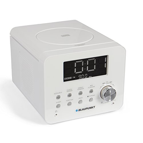 BLAUPUNKT CDR 10 WH CD Uhrenradio (UKW, AMS, Dimmbares Display, Snooze, AUX-In) weiß