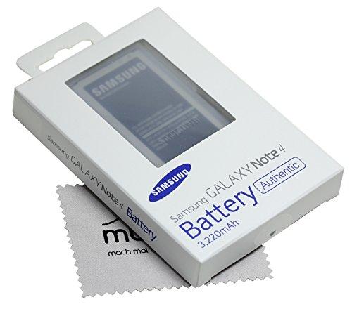 Akku für Samsung Original EB-BN910BBEGWW Blister für Samsung N910F Galaxy Note 4 + mungoo Displayputztuch