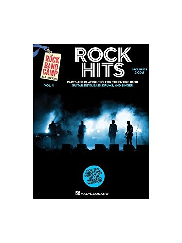 Rock Band Camp Volume 4: Rock Hits. Partitions, 2 x CD pour Guitare Basse, Batterie, Guitare, Clavier, Voix
