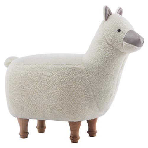 Canapés Meubles pour tout-petits Banc en bois pour enfants Tabouret pour animaux mignons dans la chambre des enfants Tabouret en alpaga Chaise longue pour bébé Tabouret en agneau en forme de bande des