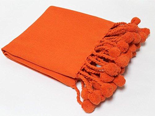 Soleil d'ocre Manta Pompons Naranja