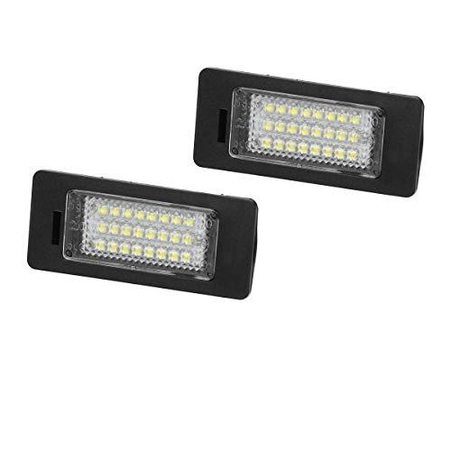 Preisvergleich Produktbild ECD Germany LED Kennzeichenbeleuchtung - mit E-Prüfzeichen - 6000K Xenon Weiß - Kennzeichen Beleuchtung Nummernschilder Licht