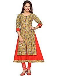 Payal Kurtis Ajrakh Block Printed Layered Kurta