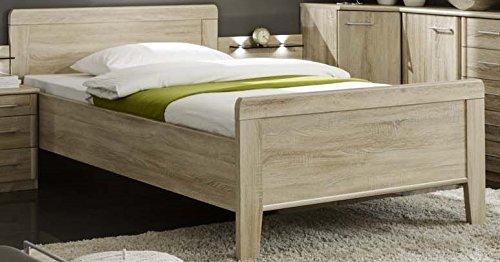 Seniorenbett Komfortbett 90x190cm eiche trüffel dekor – Komfortbett höhenverstellbar – (3120)