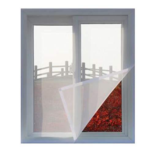 Pantalla de insecto ECYC para ventana de bricolaje Ventana anti mosquitos mosquitera invisible con adhesivo mágico (blanco, 200x120cm)