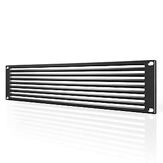 AC Infinity Rack Panel Zubehör Vent 2U Platz für 48,3cm Rackmount, Premium Aluminium Bj und eloxiertem Finish