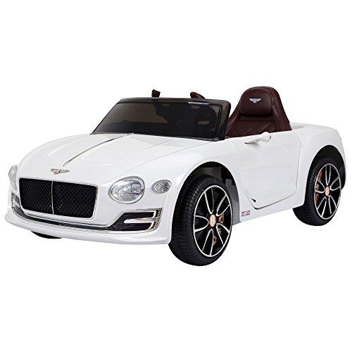 HOMCOM Coche Eléctrico para Niño 3-8 Años Bentley con Mando a Distancia MP3 USB Luces y Sonidos Apertura de Puerta 108x60x43cm Carga 30kg