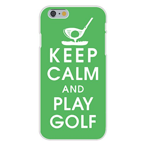Apple iPhone 6 Custom Case White Plastic Snap On - Keep Calm and Play Golf w/ Ball, Tee, & Club