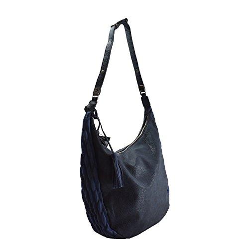 Lookat Frauen-Handtasche in PU-Leder mit Schulterriemen 39x30x12 Cm Blau