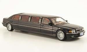 BMW 7er (E38) Stretch Limousine, met.-noire-bleu , voiture miniature, Miniature déjà montée, Neo 1:43