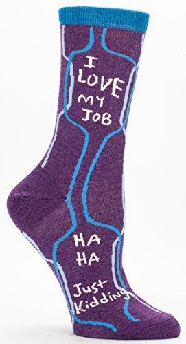 i-love-my-job-ha-ha-just-kidding-soft-combed-cotton-socks-womens-crew