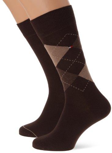 Tommy Hilfiger Th Men Sock Check 2P - Calcetines hombre
