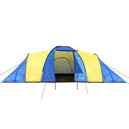 418k3Ig4BcL. SS500  - Peaktop 3 Bedrooms 1 Large Living Room 8 Persons Camping Tent Family Group Double Poles Hiking Beach Outdoor Tunnel Dome 3000mm Waterproof &UV Coated Bright Color 1 Year Warranty (5 Shapes)
