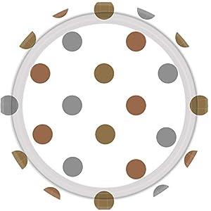 Amscan International-551661placa de metales mezclados puntos papel 23cm