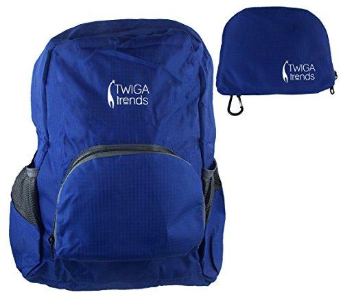 Modische Einkaufstaschen (Twiga Trends Faltbarer Reise Rucksack oder Tagesrucksack Leichtgewichtig, Robust, Modische Farben und Muster & Wiederverwendbare Einkaufstasche)
