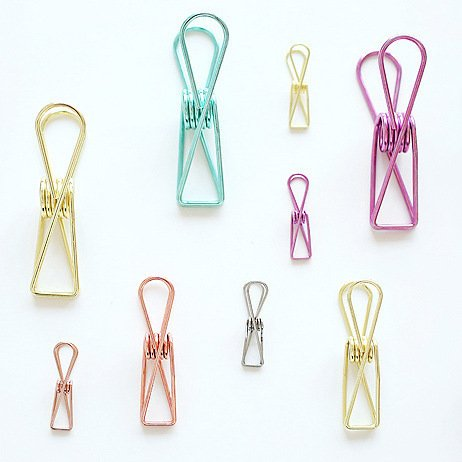 Inovey 8/12/18Pcs Hollow Out Notes Metal Letter Multicolor Papier Binder Clips Ordner Büroklammer Diy Marker Für Binding Supplies Organizer - Grün - 72 X 17Mm