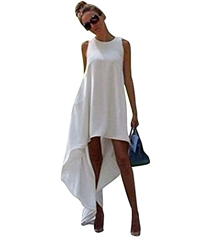Elite99® - Robe - Trapèze - Sans Manche - Femme blanc blanc 38 - blanc - Medium