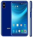 Handy Smartphone Günstig, DOOGEE X55 - 5.5 Zoll (18: 9 Verhältnis) HD Android 7.1 3G Mobiles Telefon, Quad Core 1GB + 8GB, Dreifachkamera (5MP + 8MP + 8MP), 2800mAh Akku - Blau